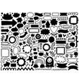 doodle decor elements set vector image