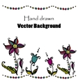 doodle flower background vector image vector image