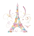 Eiffel tower romantic background vector image vector image