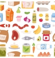 Everyday food seamless pattern vector image