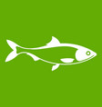 fish icon green vector image