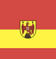 flag burgenland vector image vector image