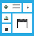 flat icon farm set of barbecue pail pump and vector image vector image