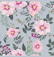 floral seamless pattern garden flower summer vector image vector image