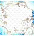frame in vibrant blue on white vector image