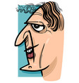 funny woman cartoon sketch vector image