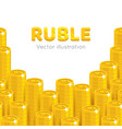 gold rubles piles cartoon template vector image vector image