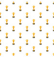 golden winner cup pattern vector image vector image
