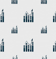 Graph icon sign Seamless pattern with geometric vector image
