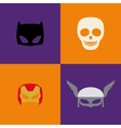 Halloween Costume Masks vector image