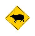 Hedgehog warning sign vector image vector image