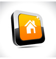 Home 3d square button vector image vector image