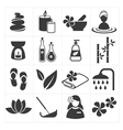 icon spa and massage vector image vector image