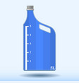 image of a plastic bottle with a measuring scale vector image vector image