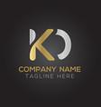 initial alphabet kd logo design template abstract