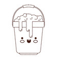 kawaii bucket with handle and full of water with vector image
