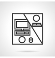 Line icon for work at a distance vector image vector image