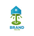 modern logo floor lamp and real estate vector image vector image