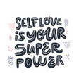 motivational girl power handwritten quote vector image vector image