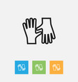 of cleaning symbol on gauntlet vector image