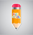 Pencil Sticker Label vector image vector image