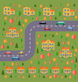 plan of village vector image vector image