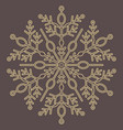 pretty round snowflake vector image vector image