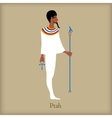 Ptah God of creation icon flat style vector image vector image