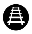 railway track icon design vector image