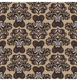 Retro seamless pattern damask sepia vector image