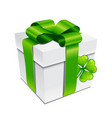 saint patricks day gift box with vector image vector image