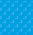 scooter pattern seamless blue vector image vector image