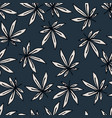 seamless hand drawn pattern with outlined white vector image vector image