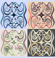 set of four decorative ornamen vector image