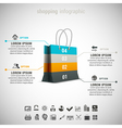 Shopping Infographic vector image vector image