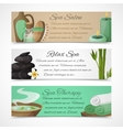 Spa banners horizontal vector image vector image