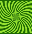 spiral ray background - design from green rotated vector image vector image