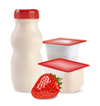 Strawberry products vector image