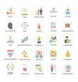 success and opportunities flat icons set vector image vector image