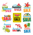 summer sale banner set vector image