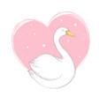 swan white bird sign symbol logo logo vector image