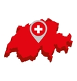 Swiss emblem isolated icon vector image vector image