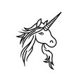unicorn constructor unicorn sketch lines abstract vector image vector image