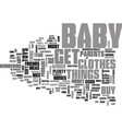 what do you buy a new born baby text word cloud vector image vector image