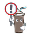 with sign ice chocolate character cartoon vector image vector image