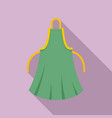 woman apron icon flat style vector image