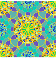 Yellow fractal diamond on a background of blue vector image vector image