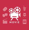 digital red white cinema vector image