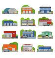 warehouse storehouse depot storage facilities vector image