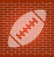 american simple football ball whitish vector image